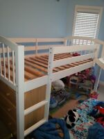 Children's Twin Loft Bed with Slide