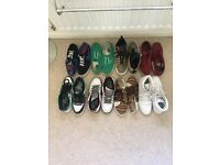 Bundle of 8 pairs of trainers sizes 8-9 1/2