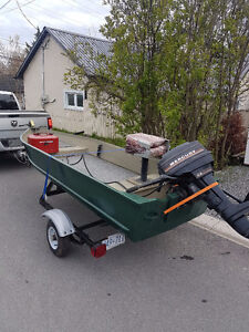 12' Fishing Boat Trailer and Motor