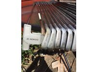 Full set Petron golf clubs and trolley 14 clubs in total