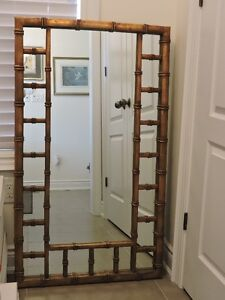 MIRROR - Hollywood Regency Style Faux Bamboo