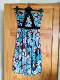 Blue pattern summer dress