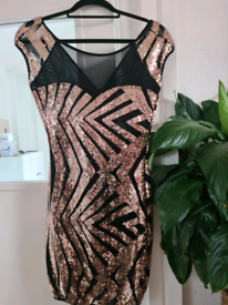 Gorgeous rose gold sequin dress size 12