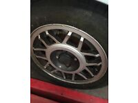 Golf mk1 scala/ snowflakes alloys genuine vw with tyres