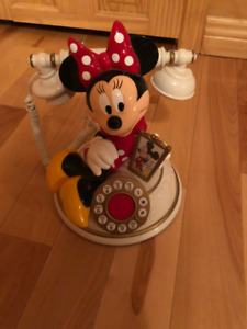 Vintage Minnie Mouse Telemania Push Button Telephone