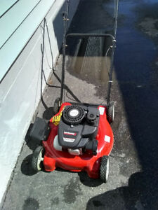 Brand New condition, used once. Gas lawnmower