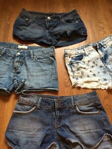 Assorted jean shorts