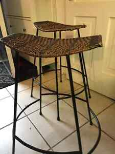 2 wrought iron stools $50 for both London Ontario image 1