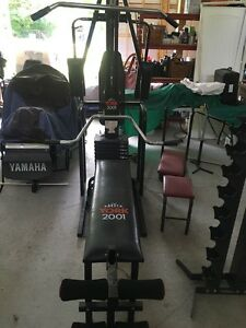 York 2001 bench press peck deck and leg press Kawartha Lakes Peterborough Area image 1