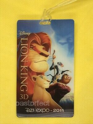 Disney 2 D23 Lion King 3D Luggage Tags Travel Golf Bag Expo 2011 New Movie 2019