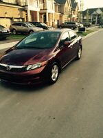2012 Honda Civic LX Sedan Sunroof 83,000KM