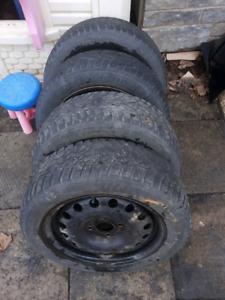 """4 roues 15"""" 4x108 pneus 185/60r15 Focus Fiesta rom tire"""