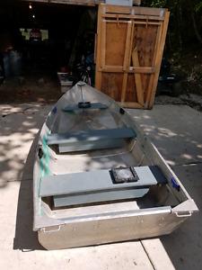 12 foot aluminum fishing boat with motor