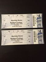 2 Prime Moose Tickets - Sat Apr 9 @ 2 pm vs. Rockford IceHogs
