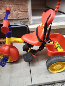 Little tikes tricycle and car