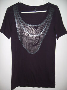 PURPLE SEQUIN TOP FROM JACOB, SIZE SMALL