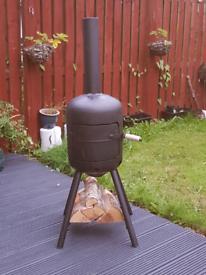 Gas bottle log burner