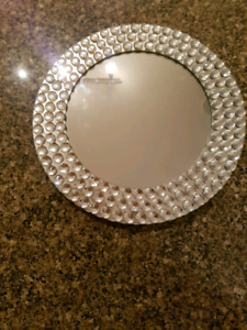 SPARKLING CRYSTAL & MIRROR SERVING ACCENT PLATE PLATER