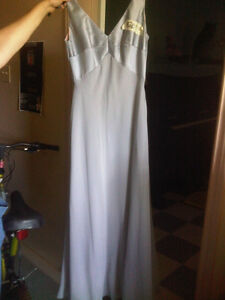 SILVER LONG FORMAL WEAR