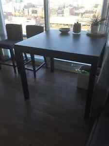 HIGH TOP IKEA DINING TABLE + 2 IKEA CHAIRS GREAT DEAL