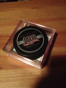 Rondelle game used canadiens Montréal