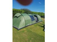 10 man tent Vango 1000 with awning and carpet