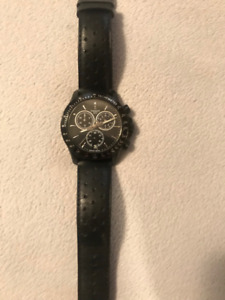 TISSOT Chronograph V8 Leather Watch with Proof of Purchase