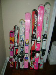 Parabolic Downhill skis with bindings for girls