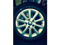 VW golf mk5 alloy wheels & tyres -quick sale £185