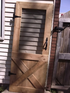 Custom built wooden screen door