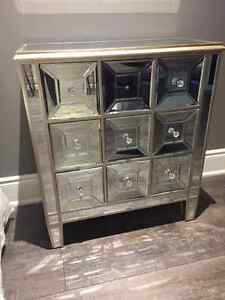 Mirrored Dresser/Table With Drawers