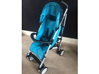 Hauck black and blue pushchair