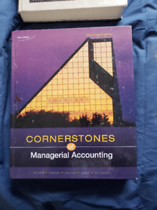 Cornerstones of Managerial Accounting - 1st Canadian edition