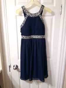 Blue with sequins dress