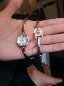 Womens watch and braclet $30