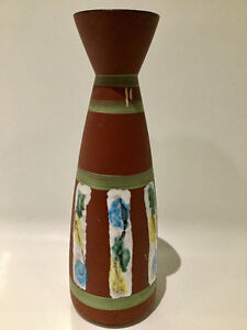 VINTAGE CERAMIC VASE EN CÉRAMIQUE RETRO MID CENTURY WEST GERMANY
