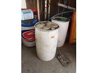 205 litre plastic barrel, quick sale, bargain £10