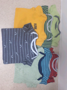 7 boys onesies t-shirts size 9 months