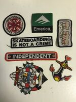 Skateboard patches