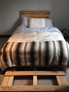 Pallet Headboard and Frame