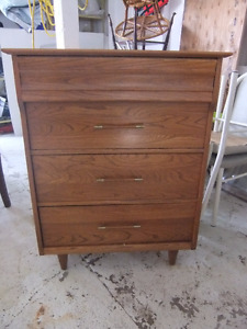 krug solid wood mid century modern 4 drawer dresser