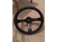Custom Steering wheel.. Rarely used