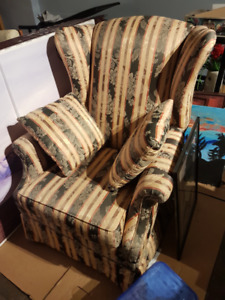 Perfect Condition green and yellow sofa chair