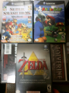 Mario and Zelda titles for the gamecube