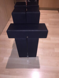 Yamaha Powered Subwoofer and 5 Speakers
