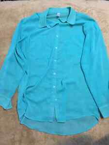 American Apparel one size real chiffon blouse