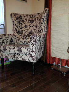 two back wing chairs