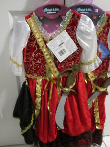 Costumes,Girls Pirate Princess 3/4 (2 left), REDUCED