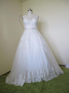 Gorgeous Ball gown Tulle&Satin Bateau Neckline Sequins & Beadin