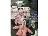 Loads of newborn to 6-9 month baby girls clothes